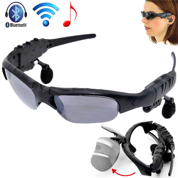 Wireless Flip-up Bluetooth Sunglasses Headset Stereo MP3 Music Glasses Earphone Headphone for Phone Hands-free / Tablet PC c5 smart bluetooth sunglasses headset hands free mic headphone for smart phone outdoor sport stereo music sun glasses headphones