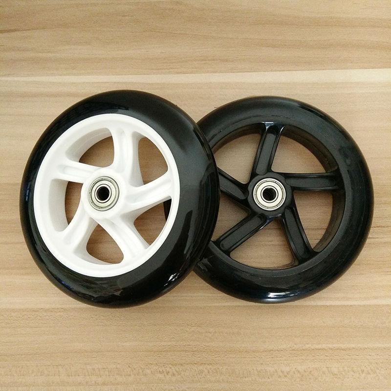 Prix pour Livraison gratuite scooter roue PU diamètre 143mm épaisseur 30mm 2 pcs/lot avec roulements