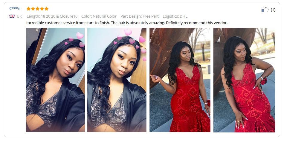 HTB1J9ZLDASWBuNjSszdq6zeSpXa3 Beautiful Princess Hair 3 Bundles Peruvian Body Wave With Lace Closure Double Weft Remy Human Hair Bundles With Closure