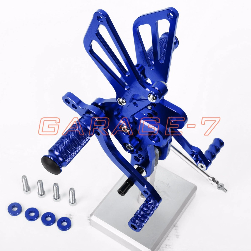 Rearsets Foot Rests Rear Set For SUZUKI GSXR 1300 Hayabusa 1999-2007 2006 2005 Hayabusa Motorcycle Foot Pegs A New Blue CNC