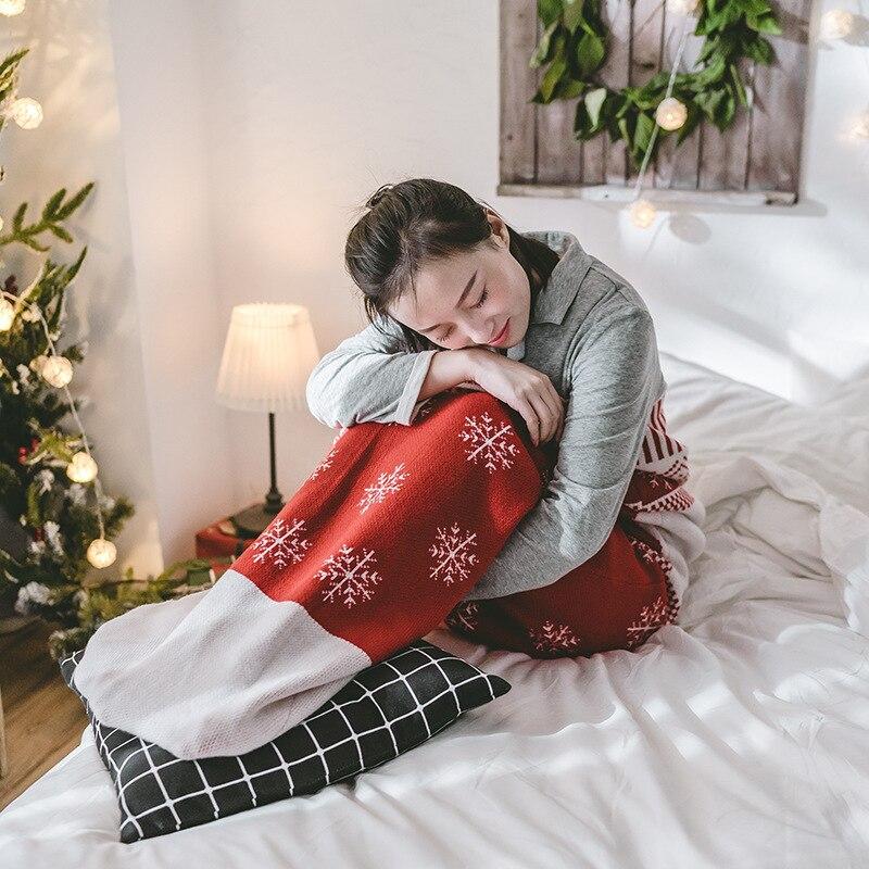 Nouvel an neige noël canapé lit TV cadeau couverture cachemire fil jeter lit Double épaissir couverture couverture chaude