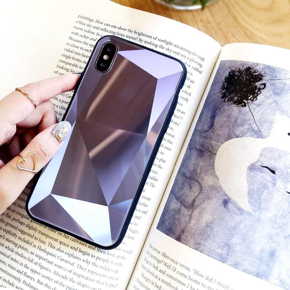 6fba3a83b5 ... Luxury 6D Aurora Tempered Glass Case For iPhone X Case For iPhone 7 6  Plus 6s ...