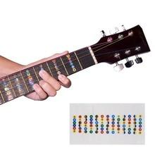 Guitar Fretboard Notes Map Labels Sticker Fingerboard Fret Decals for 6 String Acoustic Electric Guitar