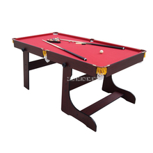 SUB-7236F American Style 6 feet Wood Foldabe Billiard Table With 16pcs Balls 2 Cue Strong Frame and leg Sport Equipment Snooker