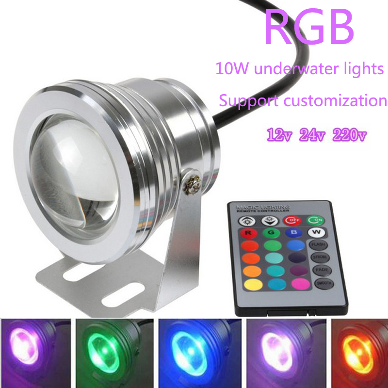 High Quality Waterproof 10W RGB LED DC 12V Outdoor 16 Color Changing Flood Spot Light Lamp Garden