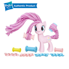 Hasbro My Little Pony Twisty Twirly Hairstyles Rarity Pinkie Pie Applejack PVC Action Figure Collectible Doll Girls Gift 2018 my little pony toys the movie dj pon 3 big mcintosh rainbow dash pinkie pie rarity pvc action figure collectible model doll