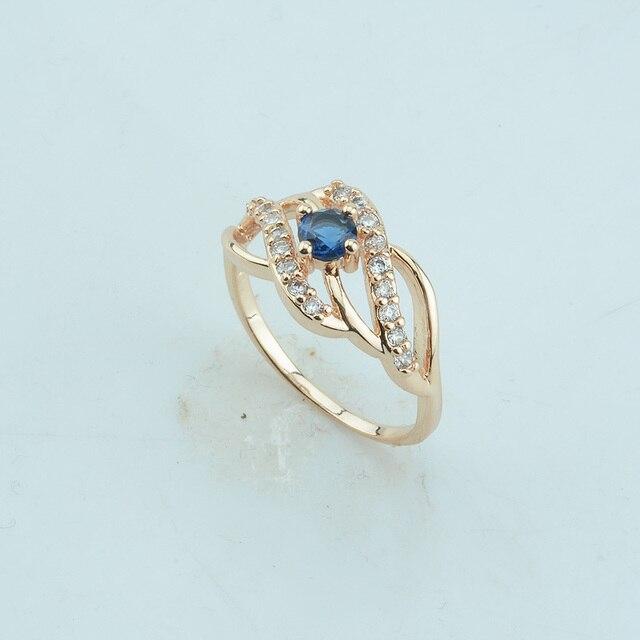 1 sztuk 10 MM kobiety Femme 585 złoty kolor czerwony kamień z cyrkonii serce modny W kryształowe pierścienie