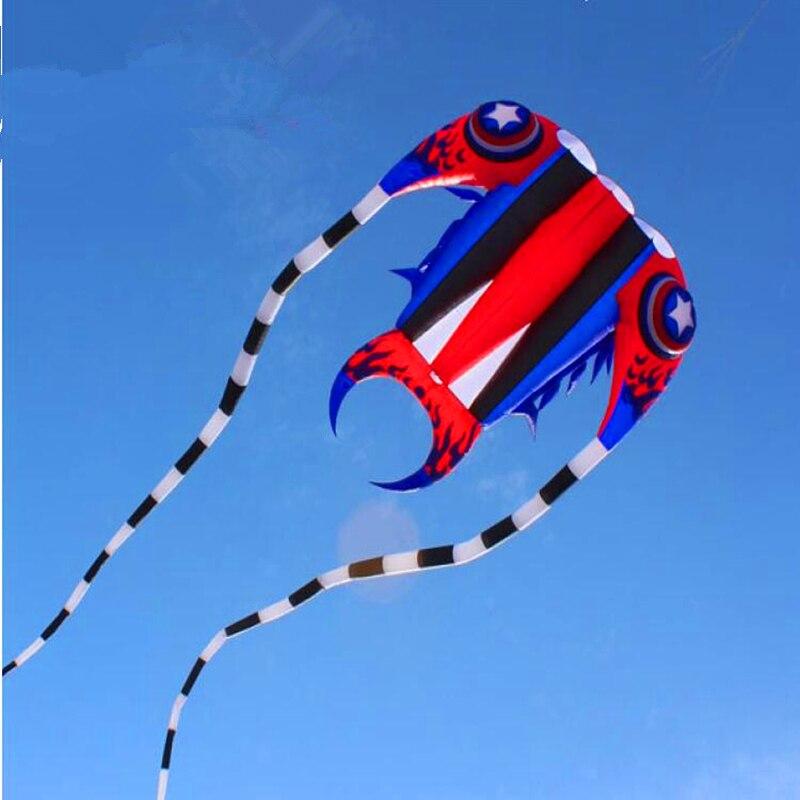 Livraison gratuite nouveau grand trilobites cerf-volant en nylon ripstop extérieure jouets cerfs-volants pour adultes octopus kite manche dragon cerf-volant