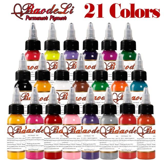 Tattoo Ink Colors >> Original Tattoo Inks Colors 30ml 1oz Tattoo Pigment Inks Set 21