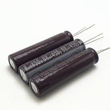 3 יח\חבילה 450v 68uf גבוהה תדר נמוך עכבה 13*50mm 20% רדיאלי אלומיניום אלקטרוליטי קבלים 68000NF 20%