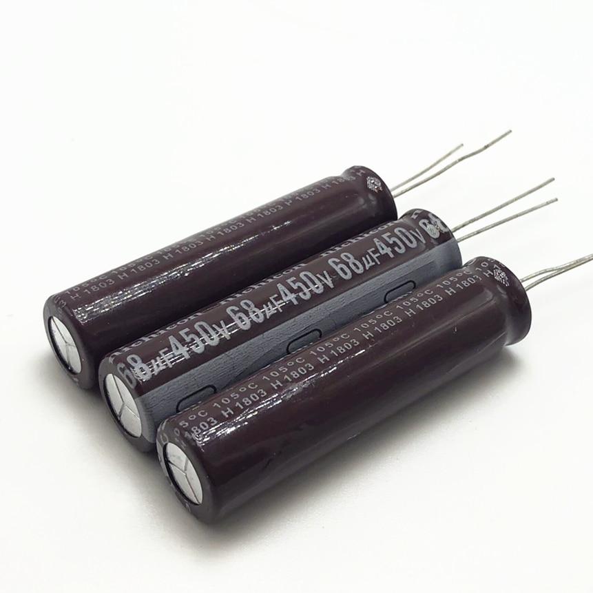 3 шт./лот 450 в 68 мкФ высокочастотный низкоимпедансный 13*50 мм 20% Радиальный алюминиевый электролитический конденсатор 20% НФ