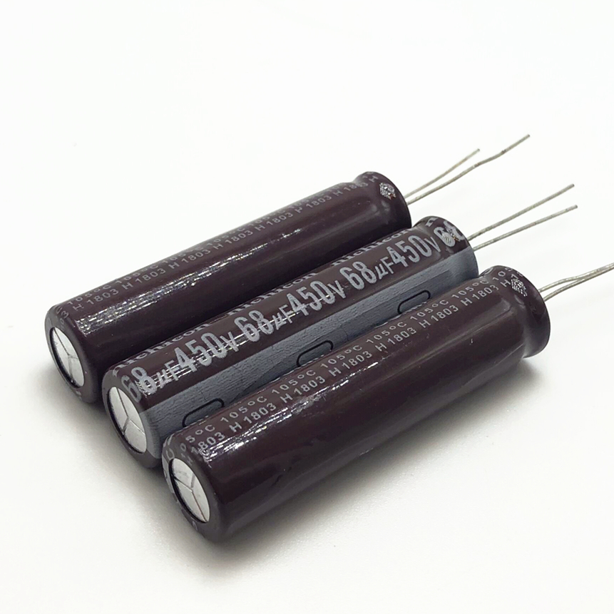 3pcs/lot 450v 68uf High Frequency Low Impedance 13*50mm 20% RADIAL Aluminum Electrolytic Capacitor 68000NF 20%