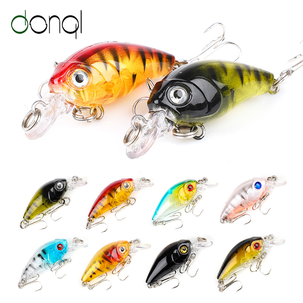 DONQL 2pcs/lot Crankbaits Minnow Fishing Lures 4.5cm 4g Wobblers For Trolling Artificial Hard Swim Bait Fishing Tackle