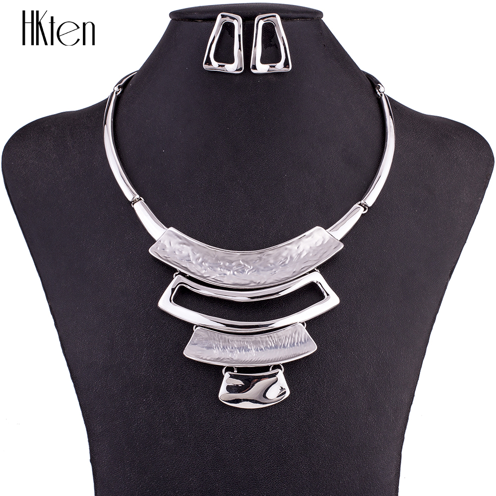 MS1504858 Fashion Alloy Jewelry Sets Environmentally lead-free and nickel-free Woman's Necklace Earring Sets High Quality