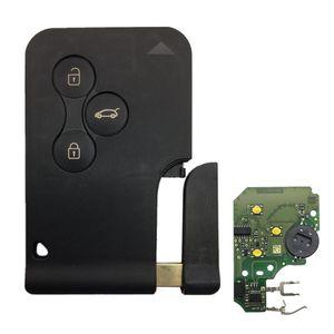 Image 4 - חדש 1 Pc רכב 3 כפתור 433Mhz 7947 שבב עם חירום הכנס להב חכם מרחוק מפתח עבור רנו מגאן סניק 2003 2008 כרטיס