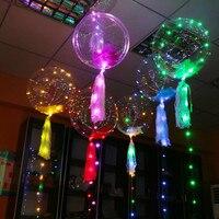 18 Cal Świecenia Led Balon 3 M LED Balon Ciąg Światła Okrągłe Bańki Powietrza Helem Balony Wedding Party Decoration IY304102-2