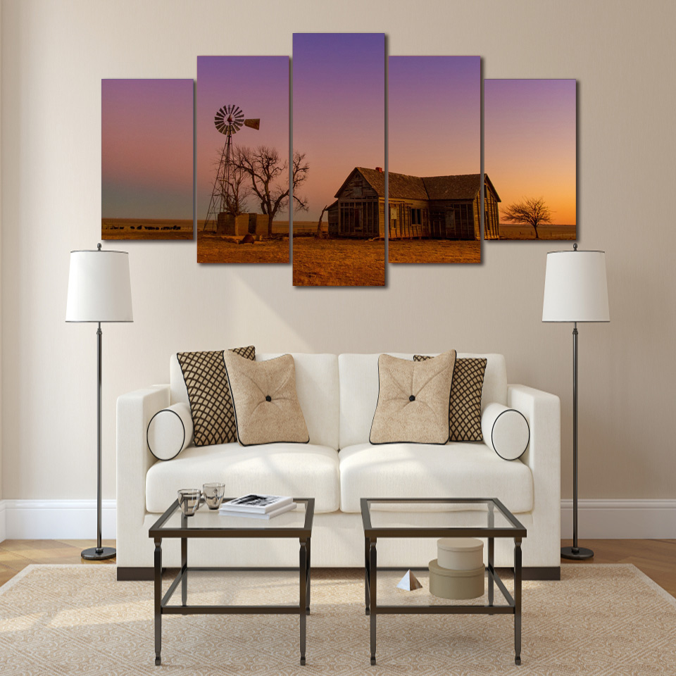 online buy wholesale house landscape painting from china house decor pictures vintage home decor 5 panel house landscape paintings on canvas posters and prints pictures