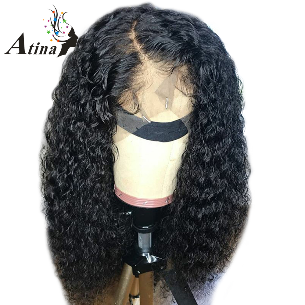 13X6 Lace Front Wig Curly Human Hair Remy Wigs With Baby Hair Preplucked Wet And Wavy