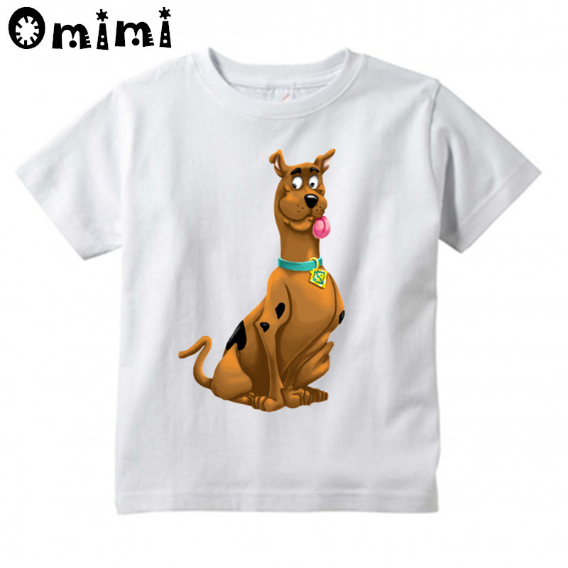 Children's Scooby Doo And Shaggy Mystery Machine Printed T Shirt Kids Casual Short Sleeve Tops Boys/Girls White T-Shirt free shipping 10sets lot pneumatic ac 220v quadruple solenoid valve w base push in connectors silencers 5 stations