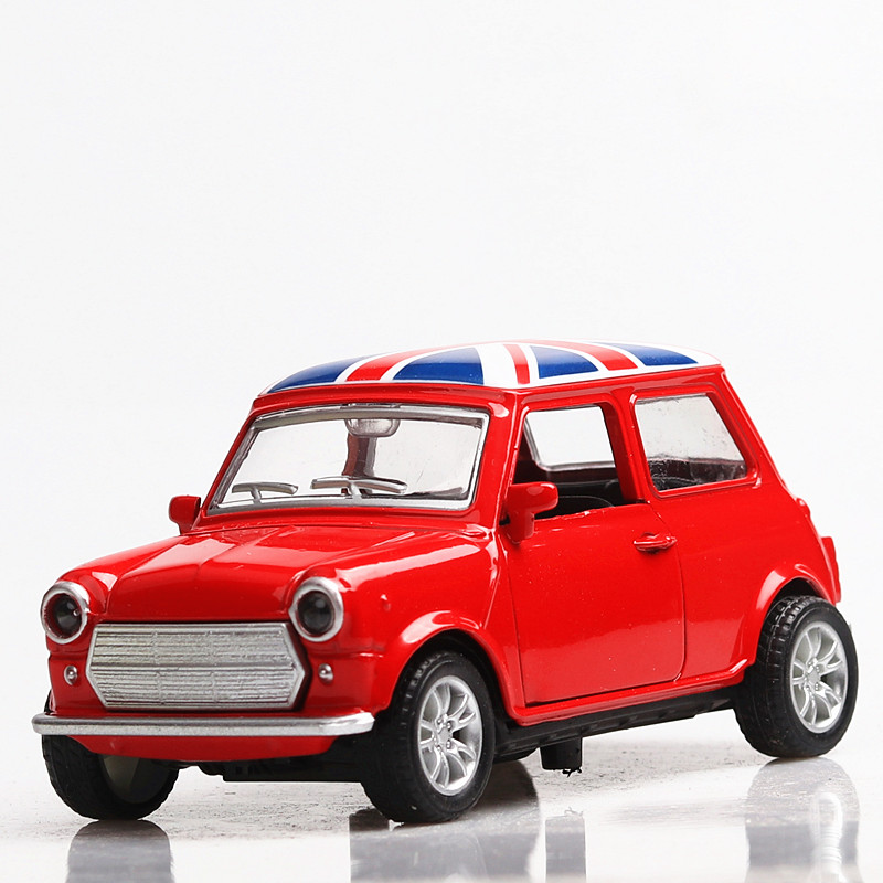 1:36 Diecast Cars Mini Metal Model Car Alloy City Vehicles Toy Birthday Cooper Model Car Kids Dinky Toys For Children