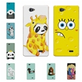 "ZTE A465 5.0""Soft Silicone Case Cover ZTE Blade A465 Case Bear Cartoon Painting Protector FOR ZTE Blade A465 Case+Free Pen"