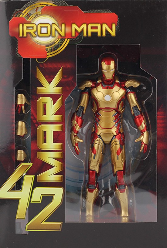 Image 2 - Marvel The Avengers Stark Iron Man 3 Mark VII MK 42 43 MK42 MK43 PVC Action Figure Collectible Model Toys 18cm KT395model toytoy markthe avengers -