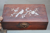 christmas Old China Boxwood Wood mosaic shell Plum flower Magpie jewelry Storage Box Boxes halloween