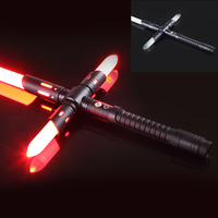 LGT AYC Cross Lightsaber Metal Handle Dueling Blade Red Flash Light Detachable Sword Cosplay Boy Gift