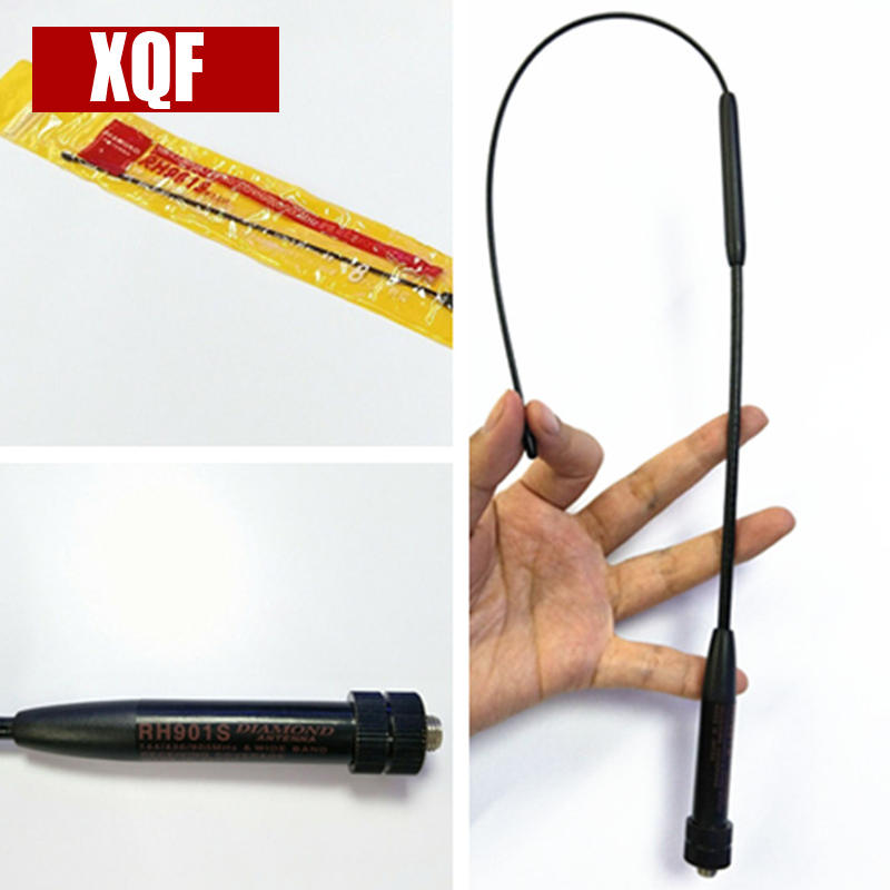 XQF RH901S SMA-Femelle 144/430 MHz Dual Band Antenne pour BaoFeng UV-82 UV-5R GT-3 MarkII UV-5RE Plus BF-F8 RT-5R BF-888S Radio