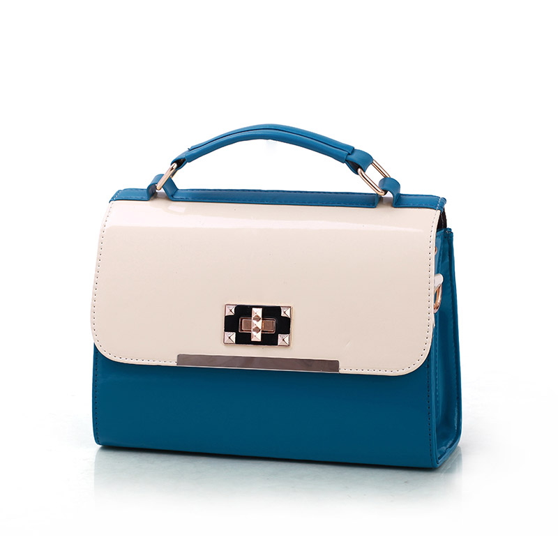 2013 new arrival spring and summer women's handbag portable casual fashion candy color block women's handbag