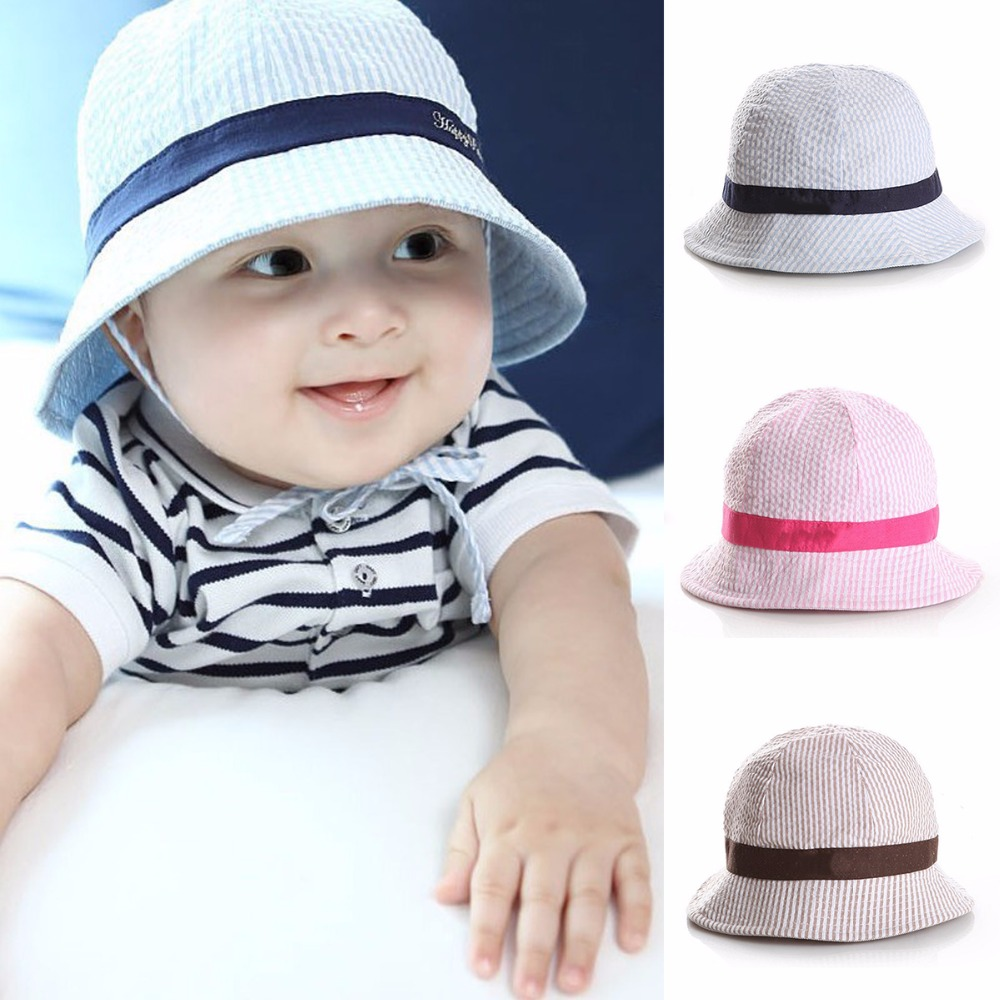 c6f1829010b Puseky 1 3Y Summer Baby Cotton Bucket Hat Round Fishing Cap Infant Kid  Newborn Toddler Child Breathable Sun Beach Fashion Cap -in Hats   Caps from  Mother ...