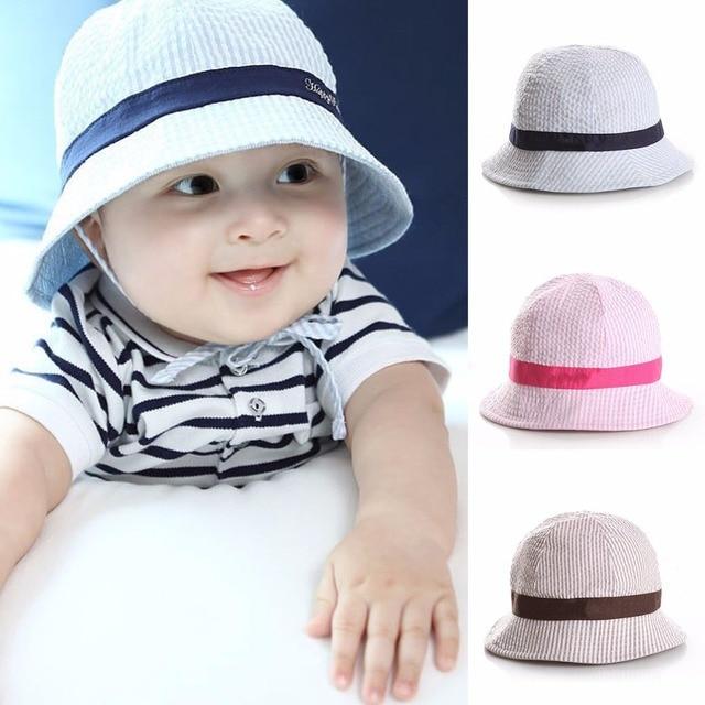 c03d88e8 Puseky 1-3Y Summer Baby Cotton Bucket Hat Round Fishing Cap Infant Kid  Newborn Toddler Child Breathable Sun Beach Fashion Cap