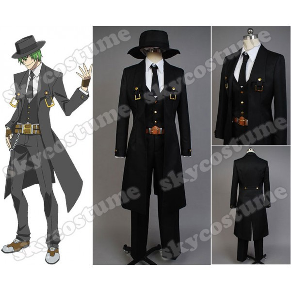 BlazBlue: Calamity Trigger HAZAMA Anime Cosplay Costume Men Black Coat Cape Jaclet Halloween Carnival Full Set