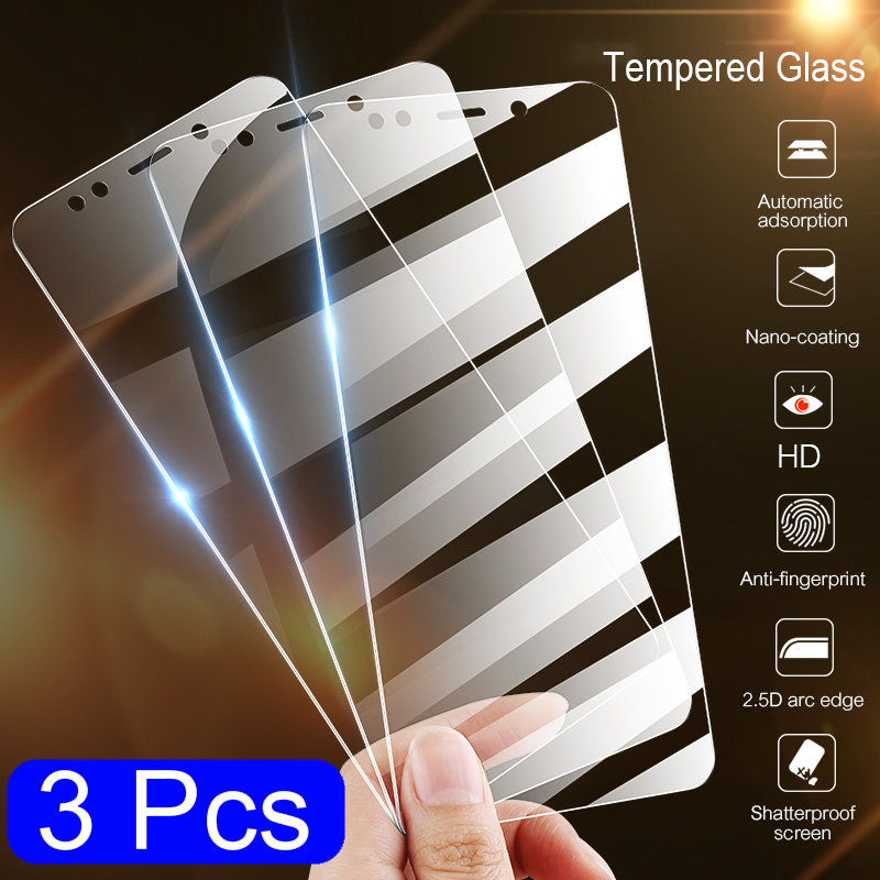 3Pcs Tempered Glass For Motorola MOTO G5 G5S G6 G8 PLUS E4 E5 PLAY PLUS Screen Protector Protective Glass Film image