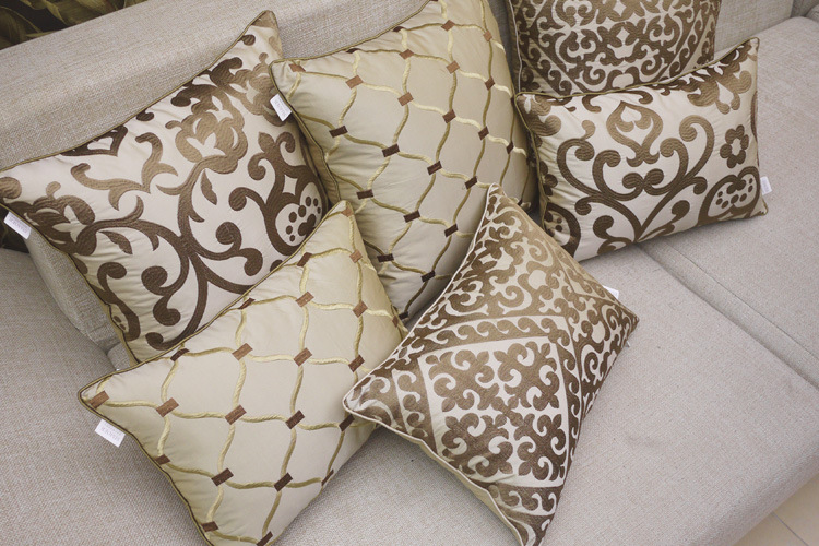 European Style Luxury Sofa Decorative Throw Pillows Imitated Silk Fabric Cushion Cover Home Decor Almofada Cojines Decorativos In From Garden