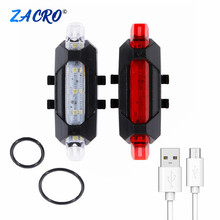 Bicycle Taillight Rechargeable Rear light Bicycle LED USB Tail Safety Warning Bicycle light waterproof Light For Cycling Bicycle cheap Seatpost Battery ZSW0025 CE CCC Zacro Plastic housing 4 modes 15 lumens 4 Hours Approx2 hours