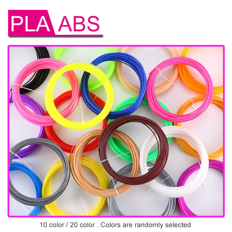 3D Printer Filamenten 10 kleur of 20 kleuren 3D Printing Pen Plastic Draden Draad 1.75mm Printer Verbruiksartikelen 3D Pen filament ABS