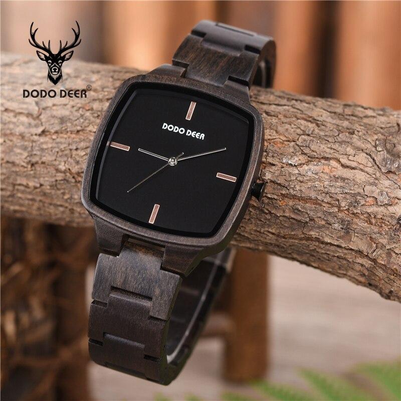 Wooden Watch Hand Dodo Deer Stylish Gift Quartz Feminino Luxury Men Relogio C02-1 Natural