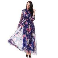 New 2016 European Brand Long Sleeve Spring Plus Size 3XL 4XL 5XL 6XL Owl Flower Print