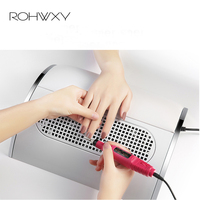 ROHWXY Nail Dust Collector 40W Manicure Table Vacuum Cleaner For Nail Art 3 Extractor Fans For Manicure Nail Salon Tool