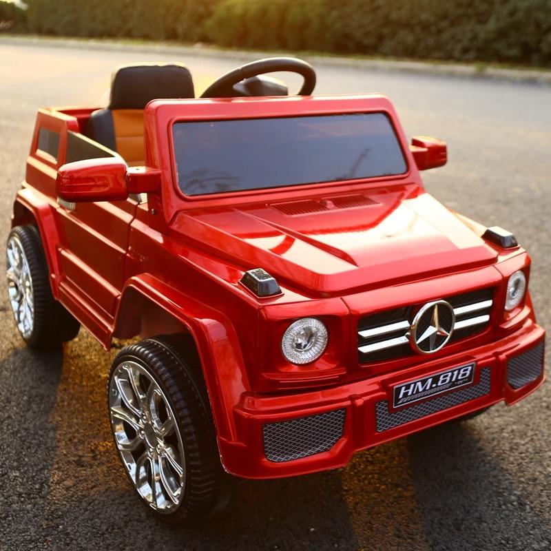 Véhicules électriques tout-terrain pour enfants à double entraînement à quatre roues bébé balançoire chariot bébé jouet batterie voiture avec télécommande - 3