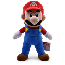 48CM Super Mario Bros Standing Red Plush Toy Stuffed Soft Peluche Doll Kids Baby
