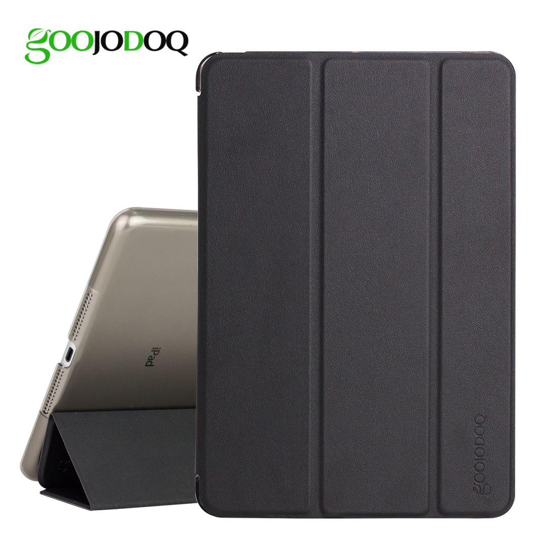 For iPad 9.7 2017 Case,GOOJODOQ Ultra Slim PU Leather Smart Cover+PC Hard Back Coque Tri-fold Stand for Apple iPad 2017 A1822 nice soft silicone back magnetic smart pu leather case for apple 2017 ipad air 1 cover new slim thin flip tpu protective case