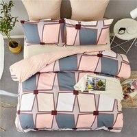 Modern Minimalist Style Duvet Bedding Set King Size Geometric Pattern Bedclothes 2/3pcs Luxurious Quilt Cover Pillowcase Sets