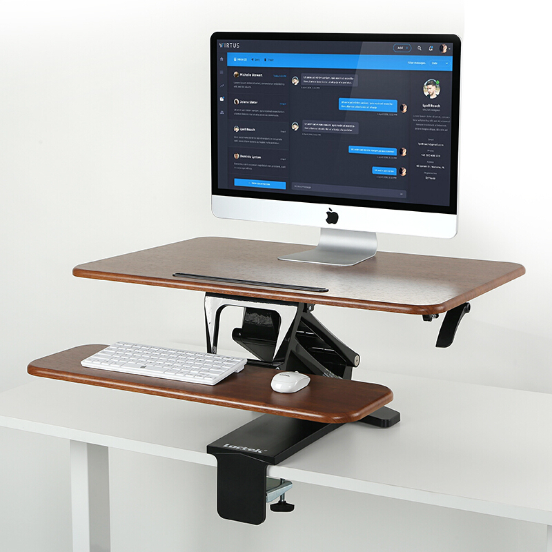 Treadmill Desk Reviews Consumer Reports: Height Adjustable Sit To Stand Laptop+Monitor Holder