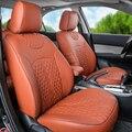Asientos de coche para Infiniti qx56/qx80 pu asiento cubiertas y ayudas accesorios set frontal y trasera cubierta de asiento de coche cojines de automóviles