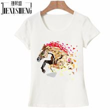 New Fashion funny inflatable horse costume Printed T shirt Women Hipster Cotton o-neck Cool tee European size brand clothing