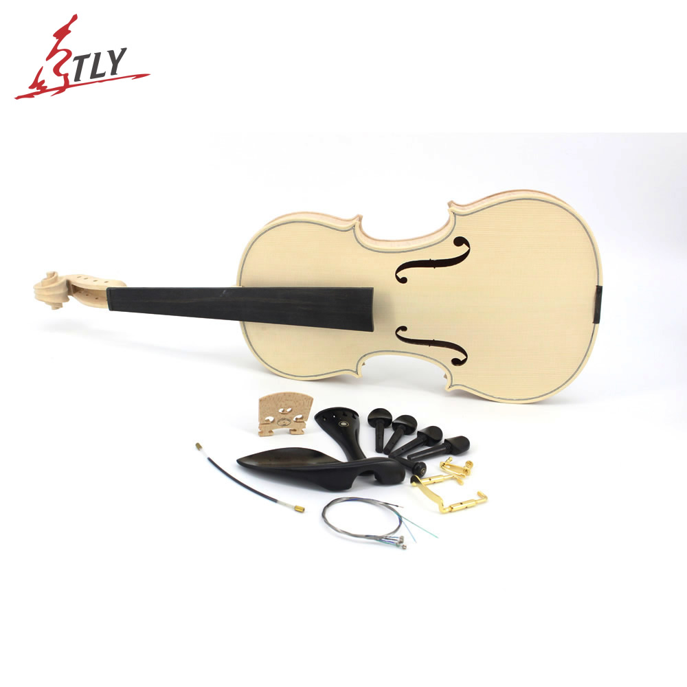 New Factory Unfinished Violin Selective 15 Years Natural Dried Flamed Maple Back Spruce Top Handmade White Blank Violin austrian spruce ch j b collion mezin copy french master violin no 1408 nice sound antique violin100% handmade