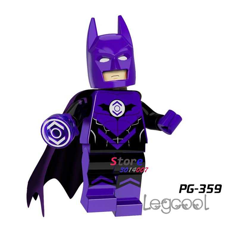 1PCS model building blocks action figures starwars superheroes Purple Lantern Batman Christmas dolls diy toys for children gift