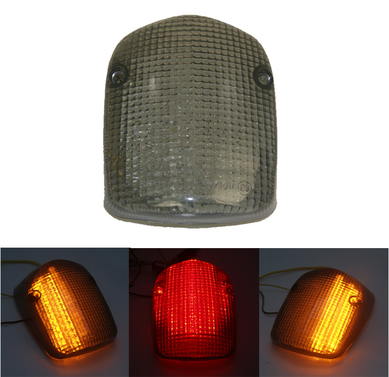 waase For HONDA SHADOW SABRE 1100 2000 2001 2002 2003 2004-2008 E-Mark Rear Tail Light Brake Turn Signals Integrated LED Light ...